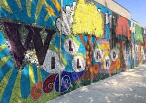 The mosaic tile mural, completed August 2016